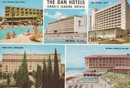 THE DAN HOTELS, ISRAEL'S LEADING HOTELS. MULTI VUE. CIRCA 1970s - BLEUP - Israël