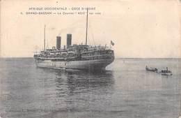 Afrique Occidentale-CÔTE D'IVOIRE Grand Bassam Le Courrier ASIE Sur Rade-ETAT=voir Description (bateau Navire*PRIX FIXE - Côte-d'Ivoire