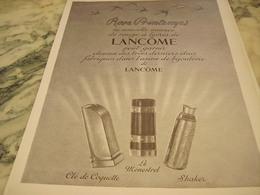ANCIENNE PUBLICITE PARFUM ROSE PRINTEMPS DE LANCOME PARIS 1951 - Parfums & Beauté