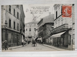 Saint-Chamond. Rue Alsace-Lorraine. Animée. Attelage - Saint Chamond
