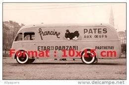 Reproduction D'une Photographie D'un Véhicule Publicitaire Pour Panzani Francine Pâtes Aux Oeufs - Reproductions