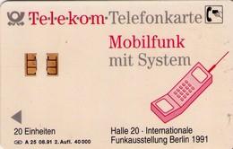 TARJETA TELEFONICA DE ALEMANIA. Exposición Internacional De Radio Berlín 1991 (2ª Edición). A25 08.91 (462) - Germania