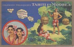 CPA Colonies Françaises Tahiti Et Mooréa - Produits Du Lion Noir - Tahiti