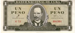 Cuba P.95  1 Peso  1961 Unc - Cuba