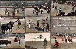 Lot Of 10 Postcards (2 Photos) Madrid Corrida Machaquito Toro.... - Corrida