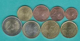 2017 Issues - 1, 2, 5, 10, 20 & 50 Cents; 1 & 2 Euro - San Marino