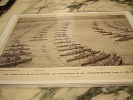 AFFICHE  LES FORCES NAVAL FRANCE ANGLETERRE ET AUTRICHE HONGRIE 1914 - 1914-18