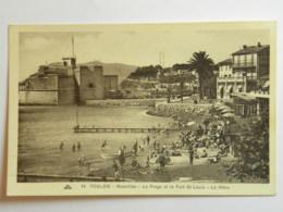 CPA (83) Var - TOULON - Mourillon - La Plage Et Le Fort Saint-louis - La Mitre - Toulon