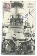 CPA Bateau Navire De Guerre Tourelle Avant D'un Croiseur-cuirassé  (Amiral Aube) - Guerre