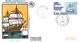 D - [404725]Taaf 1987 -  Transports, Bateaux - FDC