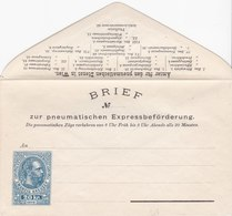 BRIEF Zur Pneumatischen Expressbeförderung - 1878 - Entiers Postaux