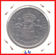 ESPAÑA MONEDA DE ALFONSO XII. 5 PESETAS PLATA 1885  *18*85 - Primeras Acuñaciones