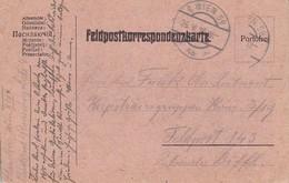 Feldpostkarte - Wien Nach Feldpost 143 - 1915 (38542) - Briefe U. Dokumente