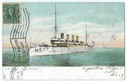 CPA Bateau Navire De Guerre US Navy Cruiser Columbia Post Card Built A Philadelphia - Guerre