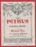 Etiquette De VIN - Pomerol - PETRUS - 1960 - - Bordeaux