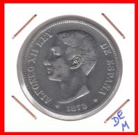 ESPAÑA MONEDA DE ALFONSO XII. 5 PESETAS PLATA 1875 - Primeras Acuñaciones