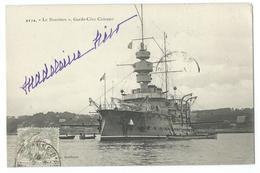 """CPA Bateau Navire De Guerre Garde-côte Cuirassé """"Le Bouvines"""" - Guerre"""