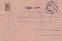 Feldpostkarte - K.k. Ldw. Inf. Regt 21 Nach Krems - Feldpost 53 - 1917  (38544) - 1850-1918 Imperium
