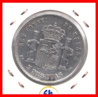 ESPAÑA MONEDA DE ALFONSO XII. 5 PESETAS PLATA 1884  *18*84 - Primeras Acuñaciones