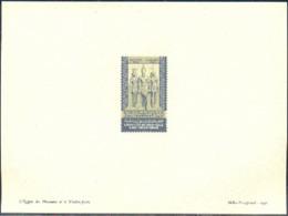 EGYPT (1947) Hathor. King Men-Kau-Re. Jackalheaded Goddess. Proof On Thin Paper In Issued Colors Scott No B9 - Egypt