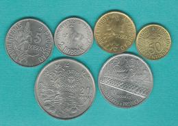 1977 Issues - 50 Cêntimos; 1, 2, 5, 10 & 20 Dobras (KMs 25-30) - Sao Tome Et Principe