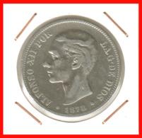 ESPAÑA MONEDA DE ALFONSO XII. 5 PESETAS PLATA 1878 --  M-EM - Primeras Acuñaciones