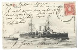 "CPA Bateau Navire De Guerre Cuirassé Crucero De 1 ""Princessa De Asturias"" - Guerre"