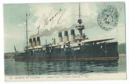 """CPA Bateau Navire De Guerre Croiseur-cuirrasé """"Le Jeanne D'Arc"""" - Guerre"""