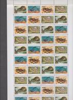 SAINT PIERRE ET MIQUELON 1 Feuille 40 T 10 Bandes N°YT 614 à 617 Date 30/05/95 Faune Crustacés - St.Pierre & Miquelon