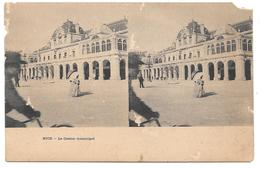 """06 - NICE - Le Casino Municipal - Carte Stéréoscopique - Cpa """"précurseur"""" - Assez Mauvais état - Pubs, Hotels And Restaurants"""