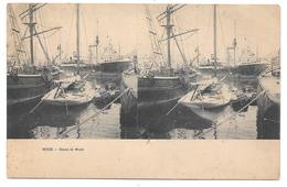 """06 - NICE - Dans Le Port - Carte Stéréoscopique - Cpa """"précurseur"""" - Assez Mauvais état - Transport (sea) - Harbour"""