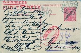 1911 , PORTUGAL , ENTERO POSTAL CIRCULADO , LISBOA - BERLIN - Ganzsachen