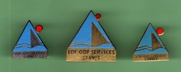 EDF - GDF *** CANNES *** Lot De 3 Pin's Differents *** EDF-01 - EDF GDF