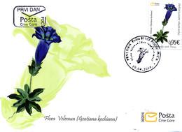 2016 FDC, Flora, Velemun Plant, Montenegro, MNH - Montenegro