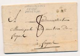 France - 1798 - 4 GAP - Marque Linéaire - Complete Folded Letter - 1701-1800: Vorläufer XVIII