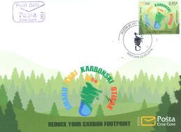 2016 FDC, Think Green, Reduce Your Carbon Footprint, Montenegro, MNH - Montenegro