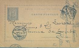 1895 , PORTUGAL , ENTERO POSTAL CIRCULADO , LISBOA - CHAUX DE - FONDS , LLEGADA - Ganzsachen