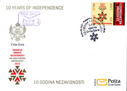 2016 FDC, The 10th Anniversary Of Indenpendence, Montenegro, MNH - Montenegro