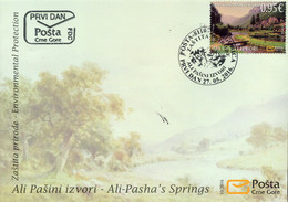 2016 FDC, Environmental Protection, Ali Pasha Springs, Montenegro, MNH - Montenegro