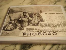ANCIENNE PUBLICITE PHOSCAO  1915 - 1914-18