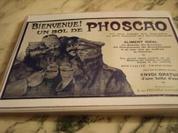 ANCIENNE PUBLICITE  PHOSCAO - 1914-18