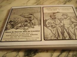 ANCIENNE PUBLICITE  PORTE PLUME DANS LES TRANCHEES 1915 - 1914-18