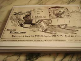 ANCIENNE PUBLICITE  PORTE PLUME LES ETRENNES AVEC ONOTO 1915 - 1914-18