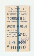 BIGL--00039-- BIGLIETTO FERROVIE DELLO STATO-ANDATA E RITORNO 17-1-1984 - Treni