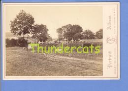 GRAND PHOTO DE CABINET 16cm X 11 Cm METZ COLLET FRERES SAINTE MARIE AUX CHENES CIMETIERE - Ancianas (antes De 1900)