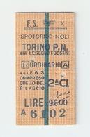 BIGL--00040-- BIGLIETTO FERROVIE DELLO STATO-ANDATA E RITORNO 16-3-1984 - Treni