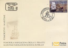 2016 FDC, Marinović Maritime School, Perast, Montenegro, MNH - Montenegro