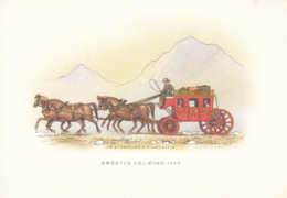 Carrozze Di Tutto Il Mondo - America Del Nord 1790 - Cartoline