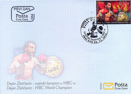 2016 FDC, Boxing, WBC World Champion Dejan Zlatičanin, Montenegro, MNH - Montenegro