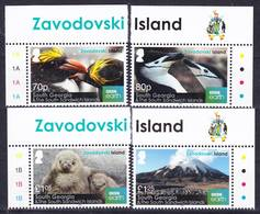 2019-0025 South Georgia 2016 Zavodovski Island Complete Set MNH ** - Géorgie Du Sud